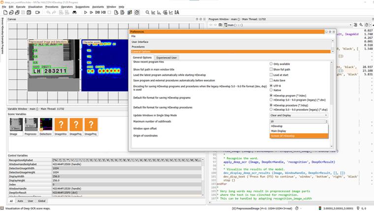 hdevelop screenshot usability improvements