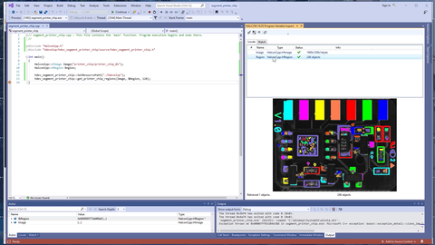 This video shows the integration of HDevelop code into a C++ application.