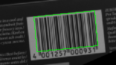 Image with bar code rotation