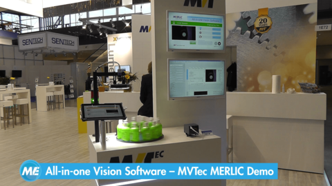 Bottle inspection with MVTec MERLIC