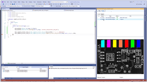 Watch in this tutorial to learn how to integrate HDevelop code into a C# application