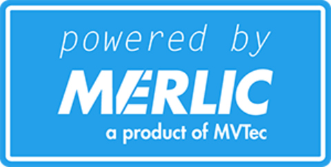 A label showing a product is powered by MERLIC